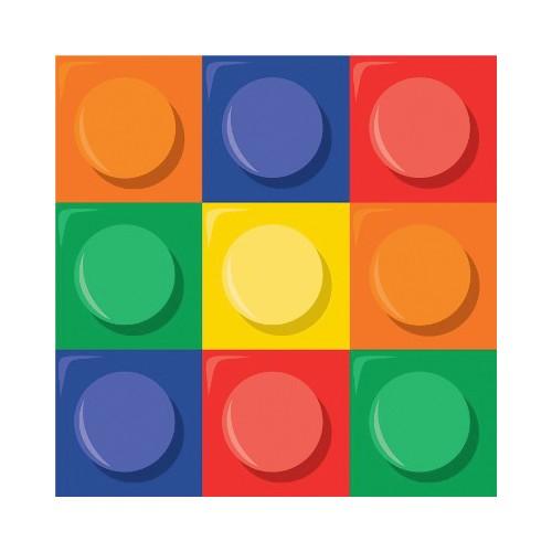 16 Tovagliolini Festa Blocchi Lego