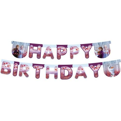 Banner Frozen 2 Happy Birthday