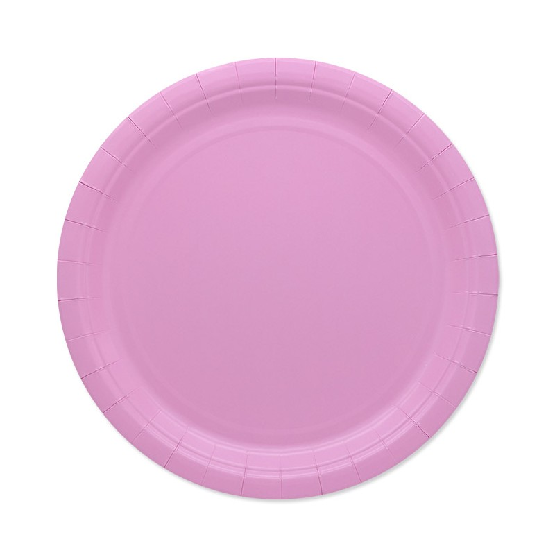 25 Piatti di carta rosa