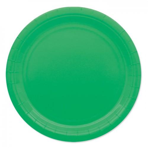 25 Piatti di carta verde scuro