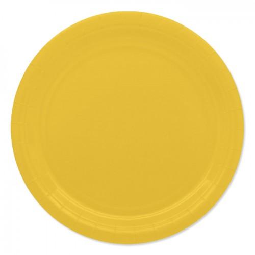 25 Piatti di carta gialli