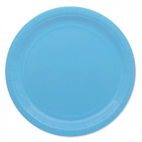 25 Piatti di carta azzurri