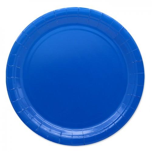 25 Piatti di carta blu