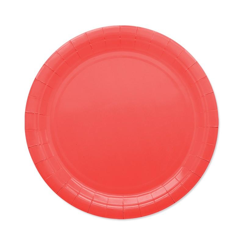 25 Piatti di carta rossi