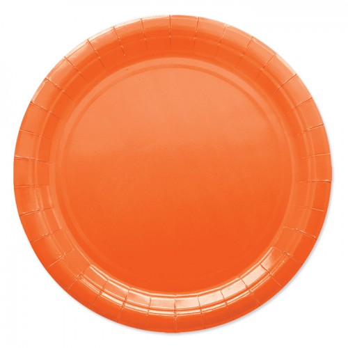 25 Piatti di carta arancioni