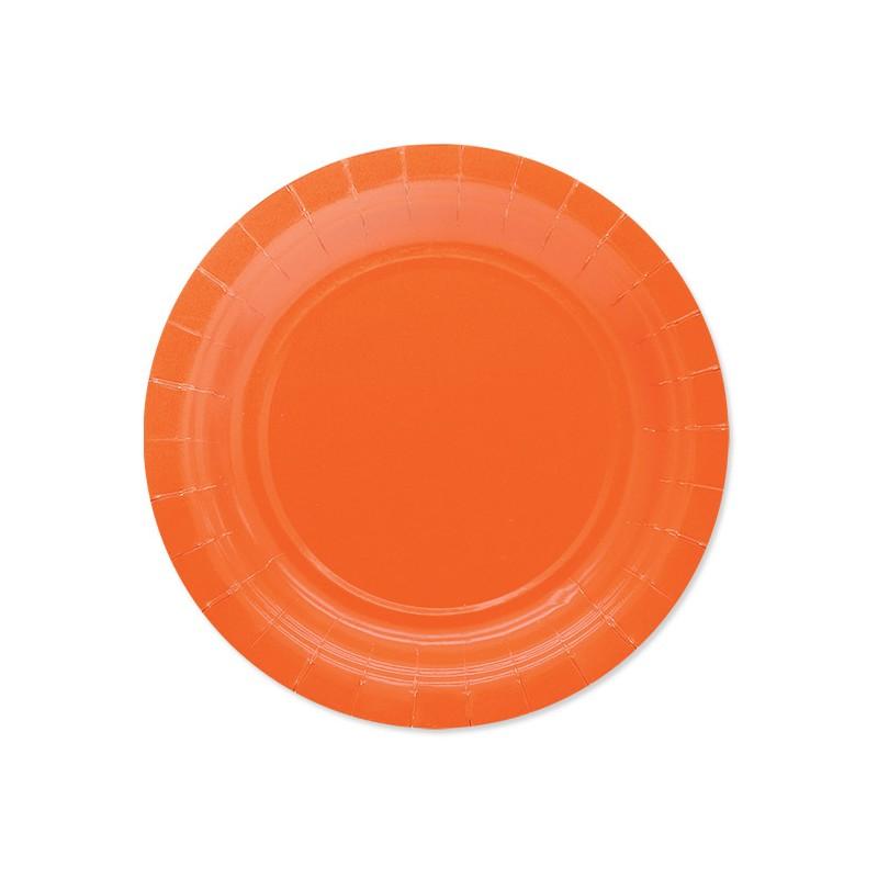 25 Piattini di carta arancioni