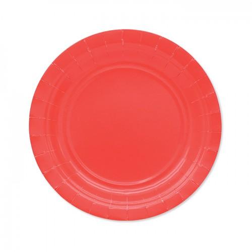 25 Piattini di carta rossi