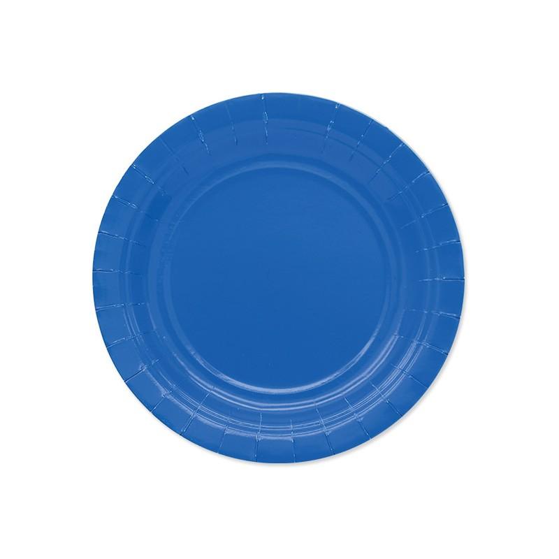 25 Piattini di carta blu