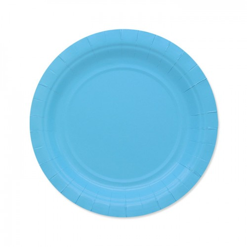 25 Piattini di carta azzurri