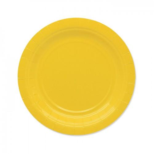 25 Piattini di carta gialli