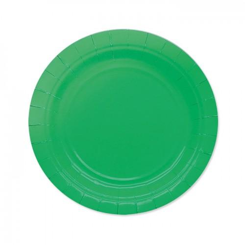 25 Piattini Di Carta Verde Scuro 18cm