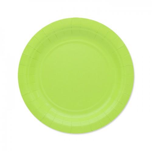 25 Piattini di carta verde mela
