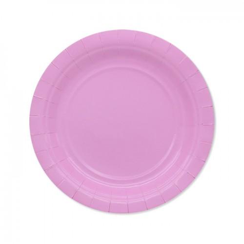 25 Piattini di carta rosa