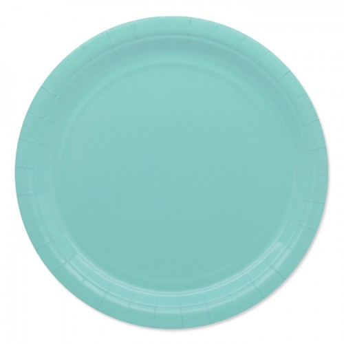 25 Piatti di carta acqua marina