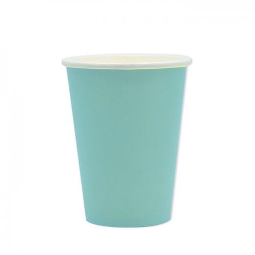 25 Bicchieri di carta acqua marina