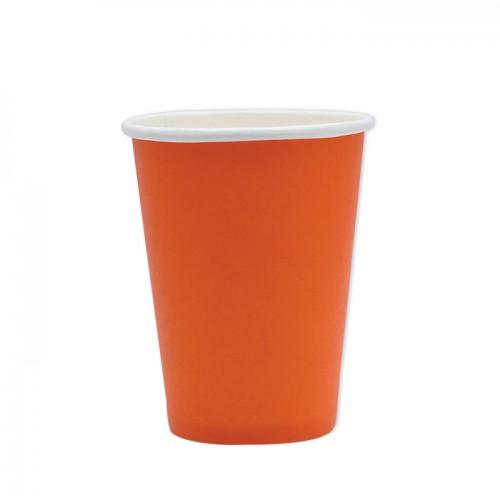 40 Bicchieri Di Carta Arancioni 200cc