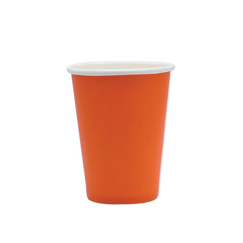 25 Bicchieri di carta arancioni