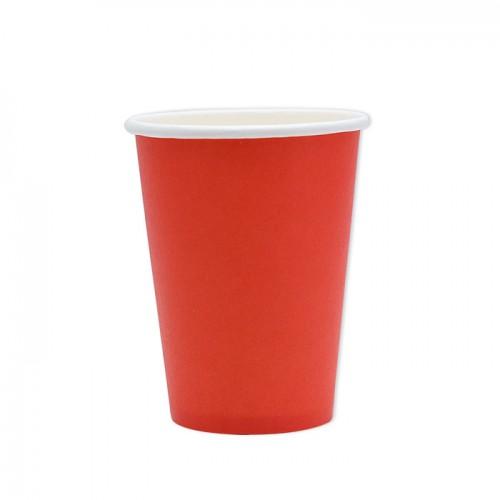 25 Bicchieri di carta rossi