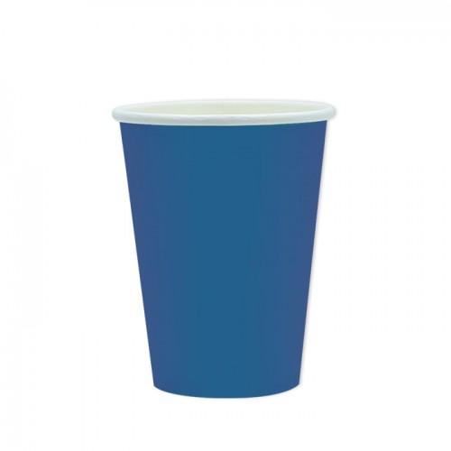 25 Bicchieri di carta blu