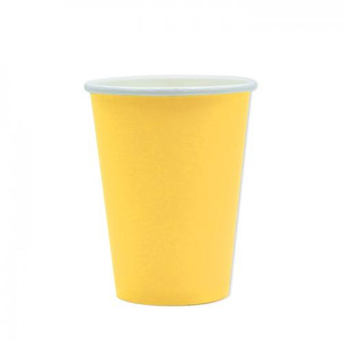 25 Bicchieri di carta gialli