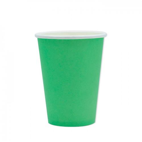 25 Bicchieri di carta verde scuro