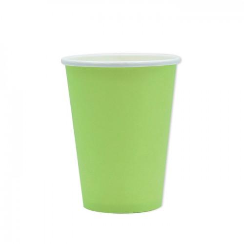 25 Bicchieri di carta verde mela