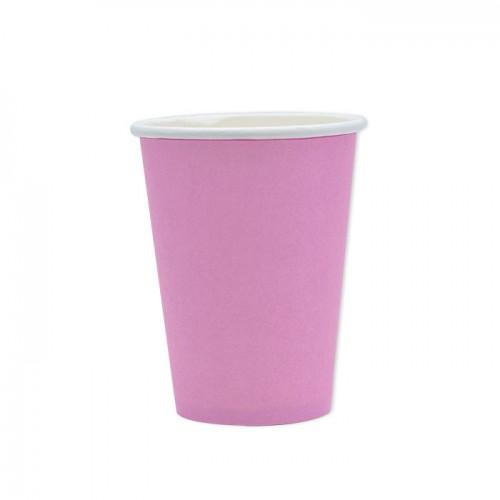 25 Bicchieri di carta rosa