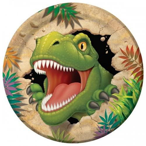 8 Piatti Festa Dinosauri
