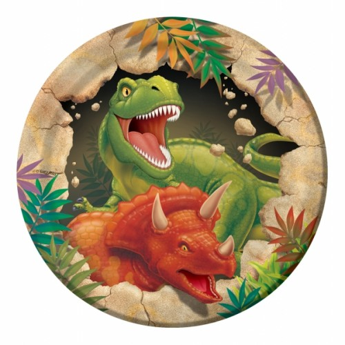 8 Piattini Festa Dinosauri