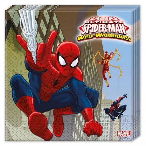 20 Tovaglioli Festa Spiderman