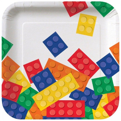 8 Piattini Festa Blocchi Lego