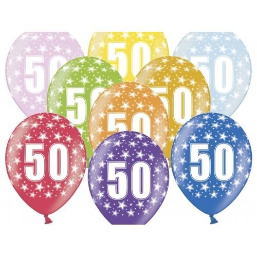 6 Palloncini 50 Anni