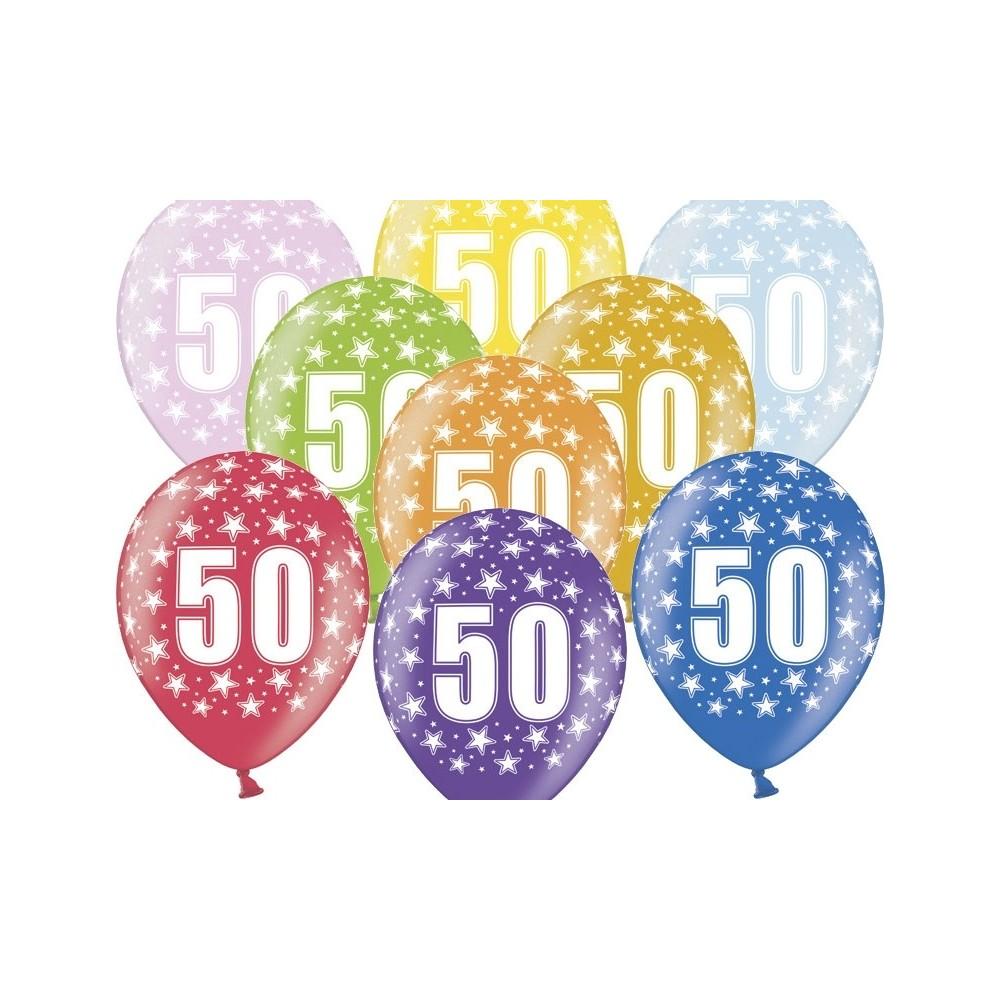 Palloncino 50 Anni Colorati In Lattice Perfetti Per Il