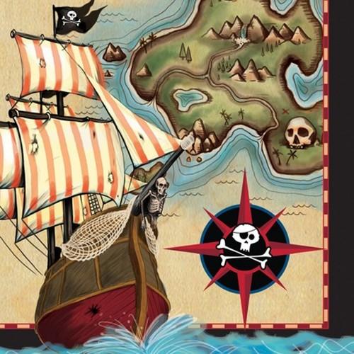 16 Tovaglioli Festa Pirati