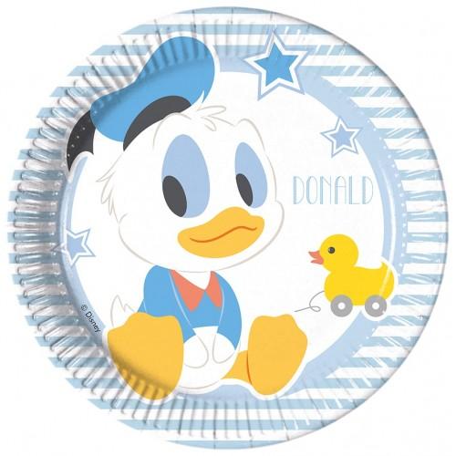 8 Piattini Festa Disney Baby Topolino