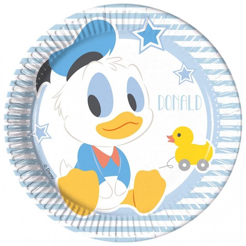 8 Piattini Disney Baby Topolino