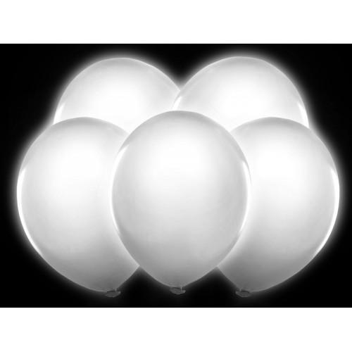 5 Palloncini Luminosi a LED Bianchi