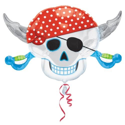 Palloncino Teschio Festa Pirati