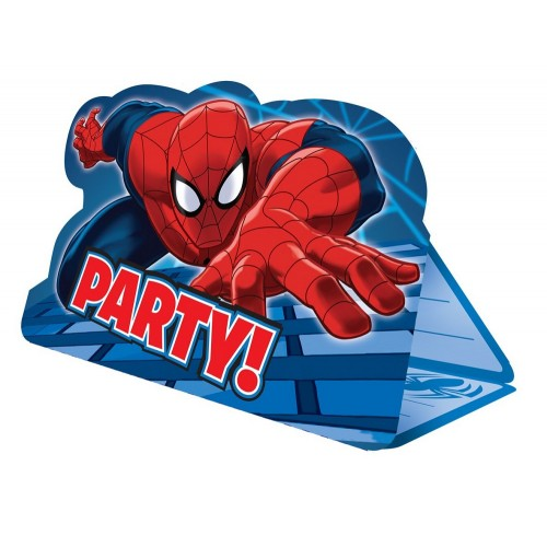 8 Inviti Festa Spiderman