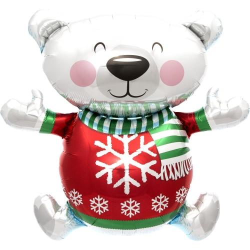 Palloncino Orsetto di Natale 70cm