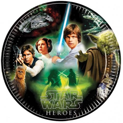 8 Piatti Festa Star Wars