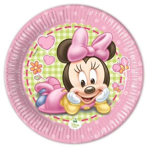 8 Piattini Festa Baby Minnie